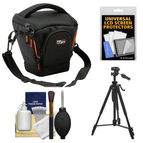 (Vidpro TL-25 Top-Load DSLR Camera Holster Case (Small) with Tripod + Accessory Kit)