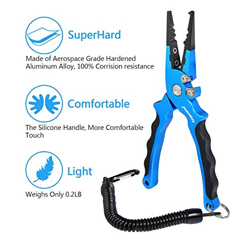 MadBite Stainless Steel Fishing Pliers with sheath and...
