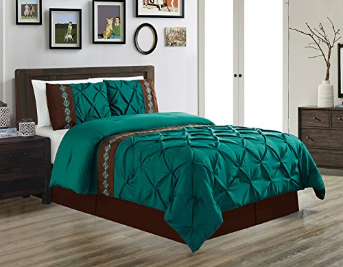 Turquoise And Brown Bed In A Bag - 4