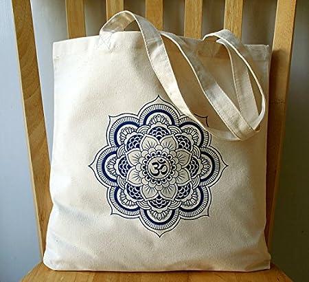 Mandala - Bolsa de lona para libros: Amazon.es: Hogar