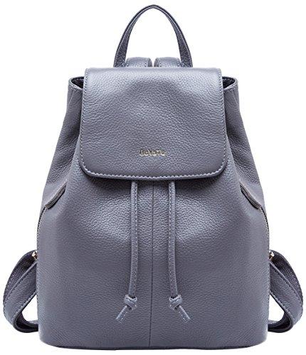 Women 02 for Backpack Shoulder Grey BOYATU Leather Travel Bag Genuine Ladies Elegant School pqIxUxBn