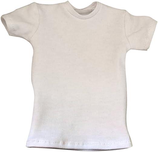 1//6 Échelle Mâle Hommes Chaussures Blanc T-Shirts pour 12 /'/' Enterbay