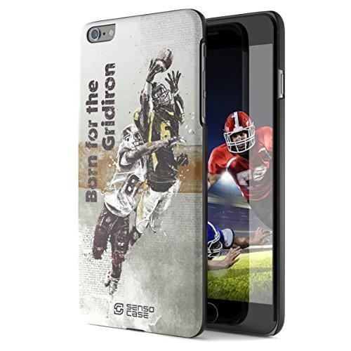 iPhone 6 Plus Case, Born For American Football with [Tempered Glass Screen Protector]. Sensocase Premium Extreme Sports Thin Phone Cover. Luxury, Stylish Gift, Slim Protective Apple 6+ (Acne Jersey)