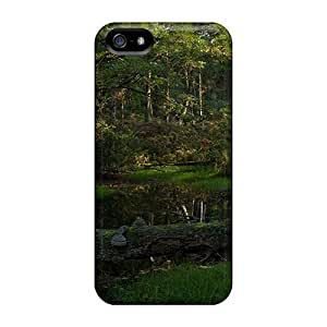 Hot Style Protective For Ipod Touch 4 Phone Case Cover (small Creek In Quiet Green Forest)