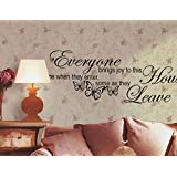 Wall Décor Stickers Removable Butterfly Art Vinyl Quote Decal Mural Room Decor Home Wall Sticker (4, Black)