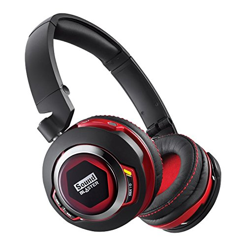 Creative Labs, Sound Blaster EVO ZX Wireless Bluetooth Over the Ear Headset With NFC, 40MM Audio Drivers, Noise Cancelling Headphones, Virtual 7.1 Surround Sound With Integrated Microphone And Carrying Case GH0280 Creative Labs Over The Ear Headphone