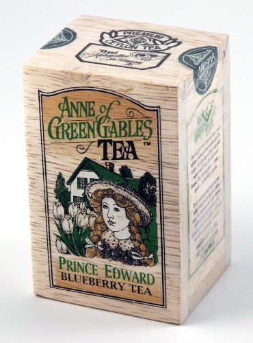 Anne of Green Gables Theme Prince Edward Blueberry Flavored Ceylon Black Tea, 25 Bags in Decorative Wood Crate - SALE by Metropolitan Tea - Theme Gable Box