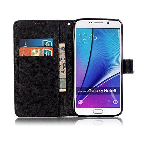 PU Carcasa de silicona teléfono móvil Painted PC Case Cover Carcasa Funda De Piel Caso de Shell cubierta para Samsung Galaxy Note 5N920+ Polvo Conector blanco 1 1