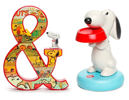 The Peanuts Snoopy Ceramic Bank & Hallmark Peanuts Comics Ampersand Collectible Stand