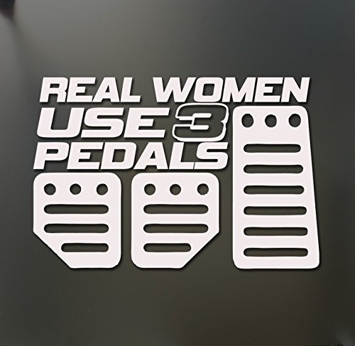 1 Set Reasonable Unique Real Women Use 3 Pedals Funny Vinyl Stickers Decor Stick Easy Window Wall Graphics Laptop Decal Home Room Art Luggage Hoverboard Patches Sticker Color White
