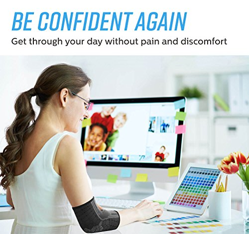 Sparthos Elbow Sleeves – Golfer's Tennis Elbow Support Men and Women Protect in Sports Baseball Weightlifting