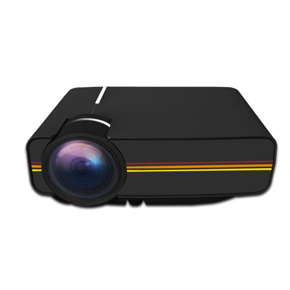 LCDホームシアタープロジェクターLEDブラックワイヤレスオーバーヘッドプロジェクターミニポータブルピコプロジェクター3Dマルチメディア1080Pテレビラップトップゲーム機 B07L625PYH