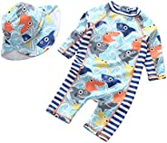 Happy Cherry Toddler Baby Boys Swimsuit One/Two Piece UPF 50+ Printed Swimwear Sunsuit