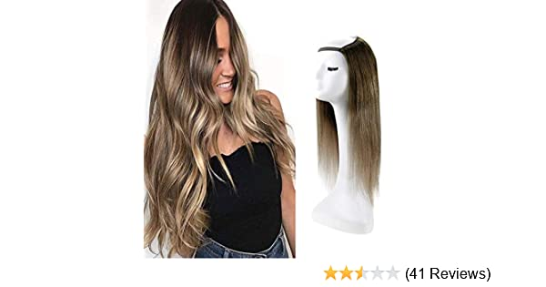 Amazon Com Fshine U Shape Wigs Balayage Short Hair U Part Wigs 12 Inch Remy Straight Hair Extensions With Clips 100 Gram Color 2 6 18 Ash Blonde Half Wig Human Hair Beauty