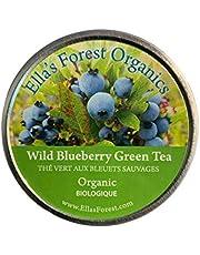 Organic Wild Blueberry Green Tea Loose Leaf
