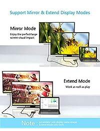 Adaptador USB C a HDMI VGA, IKERSY Tipo C a VGA HDMI 4K UHD Convertidor de vídeo