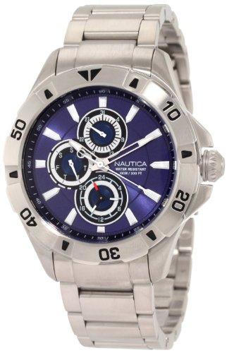 Nautica Men's N17546G NST 06 Multifunction Blue Dial Steel Bracelet Watch