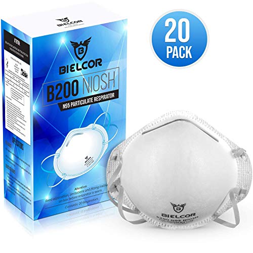 Dust Mask Respirator N95 Breathing Face Masks Disposable (20 Pack) CDC   NIOSH Certified