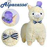 "KSB 20"" Giant Huge Yellow Plush Alpaca With Tie And Hat,Cute Soft Stuffed Animals Cushion Toy Doll,Best Birthday Gifts For The Children Kids Over 1 Years"