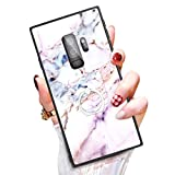 Someseed Samsung Galaxy S9 Plus Case Galaxy S9 Plus Case with Kickstand Ring Holder Duty Shock Absorbent Full Body Drop Resistant Protection Modern Pink Marble Design Cover for Samsung S9 Plus