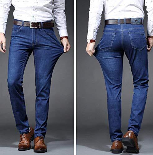 friendly lannister Pantaloni Confortevole Qk Slim Ufige Ragazzo Blau Jeans Skin I Traspirante Elastici Uomini All'aperto Estate Giovani Morbidi BwYdq
