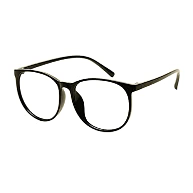 01215829f91 Deylaying Lightweight TR90 Retro Full Rim Student Finished Glasses Big  Round Frame Myopia Eyeglasses Women Men