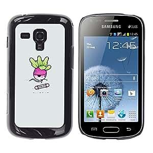 LECELL--Funda protectora / Cubierta / Piel For Samsung Galaxy S Duos S7562 -- Rad Ish rojizo patinador divertido --