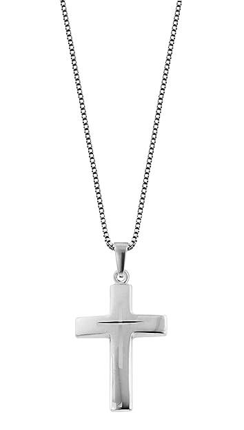 7071d9783fe3 trendor Silber-Herrenkette mit Kreuz 83624  Amazon.de  Schmuck