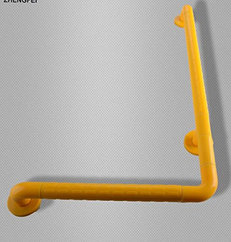 MDRW-Bathroom Handrail Bathroom Has A Bath Tub Nylon Note Injection L-Shaped Stainless Steel Safety Catch Lever Armrest 500700Mm Yellow by Olici