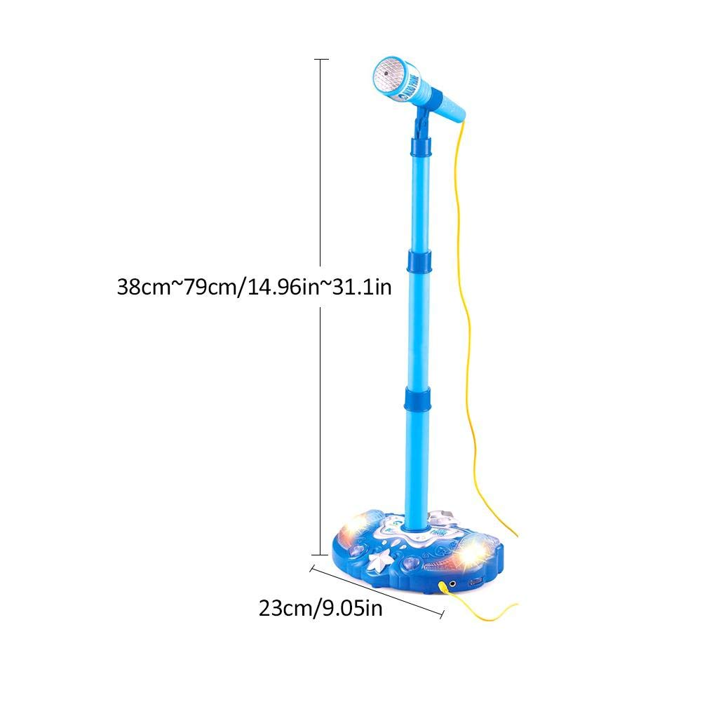 Kids Karaoke Microphone Musical Toys Touch Music Microphones Childhood Enlightenment Children Adjustable Stand Early Education Single Singing Machine with Flashing Stage Lighting and Pedals by sweetyhomes (Image #4)