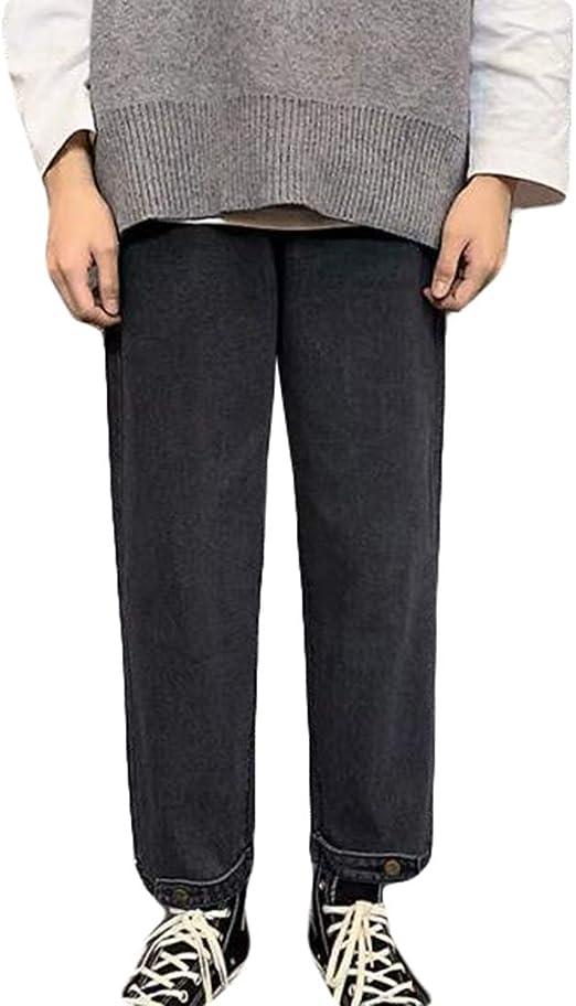 QYYデニムパンツ メンズ ゆったり ジーンズ ストレート オシャレ ワイドパンツ デニム シンプル ジーパン ファッション 無地 Gパン カジュアル 通学 ロング丈 ズボン
