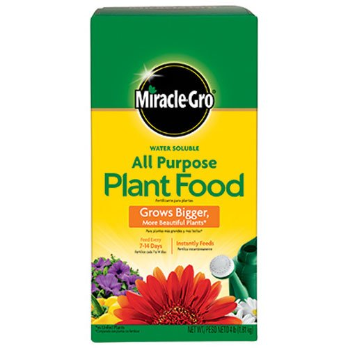 The Scotts Company Miracle Grow No.4 Water Soluble All Purpose Plant Food (Miracle Gro Water Soluble Lawn Food)
