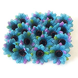 """Eternal Blossom Simulation Sun Flower 50pcs Artificial Sunflower Flower 2.55"""", Autumn Gerber Daisy can be Used for Garland Decoration and Bridal wear Accessories 106"""