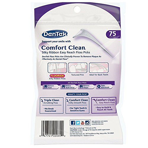 Dentek Comfort Clean hinteren Zähne Floss Picks