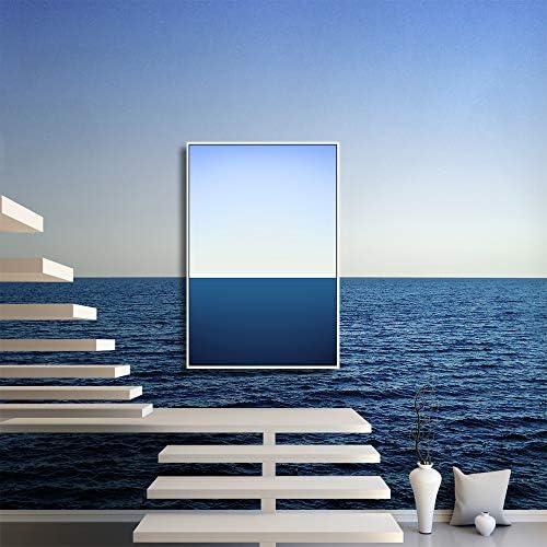 Framed for Living Room Bedroom Blue Coastline Theme for