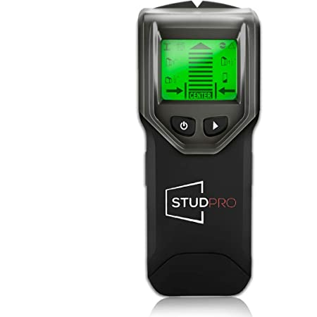 Stud Finder, StudPro Wall Scanner Stud Detector 4 in 1 Multi Function LCD Display, Center Finding Sensor with Sound Warning Notification for Wood Metal Live AC Wire Studs