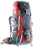 Deuter ACT Lite 65 + 10 - Ultralight Trekking Backpack, Granite/Fire