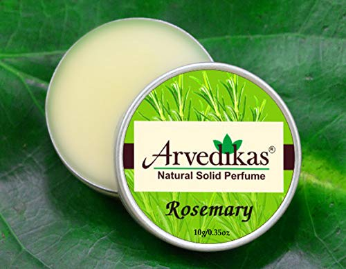 Arvedikas Rosemary Natural Solid Perfume Beeswax/Mini Jar/Floral Fragrance/Essential Oil Blend Perfume/Organic Vegan Travel Perfume/Women Aromatic Scent/Pocket Size / (10gm each - 0.35oz) - Cherry Solid Blossom Perfume