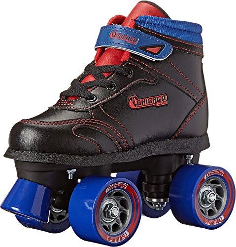 Chicago Boys Sidewalk Roller Skate- Black Size 1 (Chicago Skates Kids)