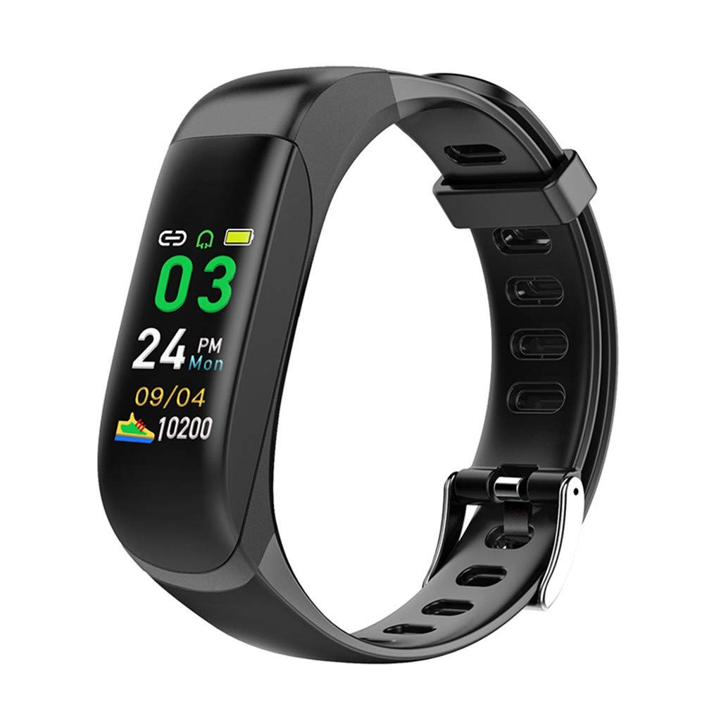 Hot Sale! NDGDA,Smart Watch Bracelet Heart Rate Blood Pressure Monitor Fitness Tracker Bluetooth (Black)