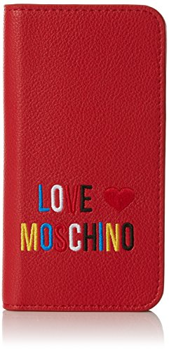 Pochettes small Love x Rouge Portacel cm Red 2x14x7 T B Grain Rosso Moschino femme Pvc H YHHEpw