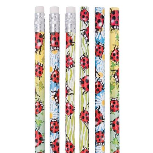 Foil Ladybugs (Foil Ladybug Pencils - 50 per pack)