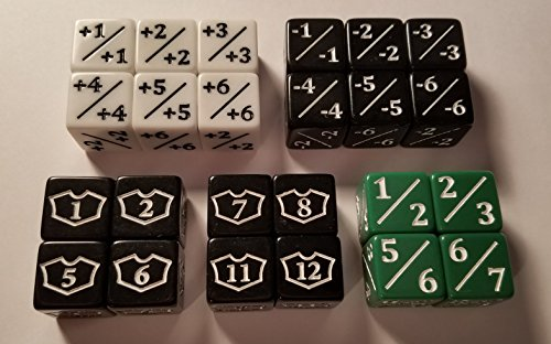 24x Counter, Negative, Goyf & Loyalty Dice for Magic: The Gathering and other games/CCG MTG by quEmpire