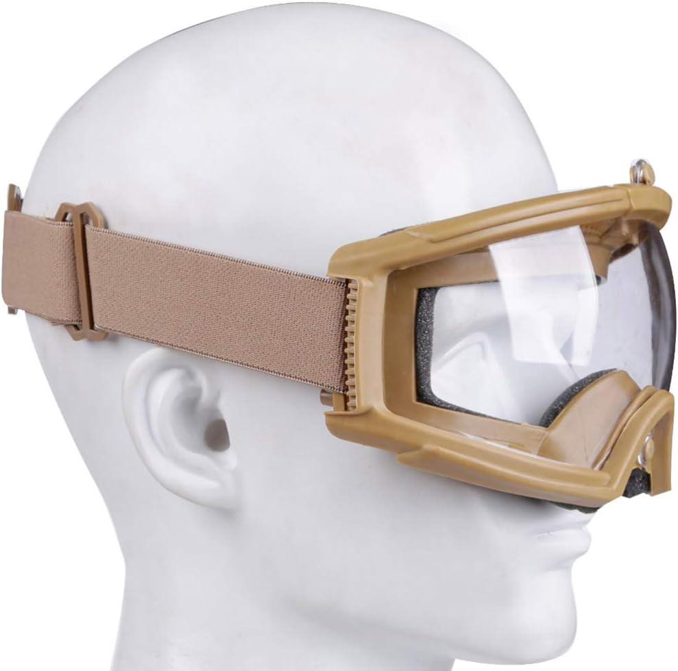 BESPORTBLE Schutzbrille Cs Spiel Schutzbrille Outdoor-Sport Ski Reiten Brillen Augenschutzbrille f/ür Airsoft Paintball Schwarzer Stil