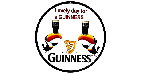 Amazon.com: Letrero de cerveza Guinness con texto en inglés ...