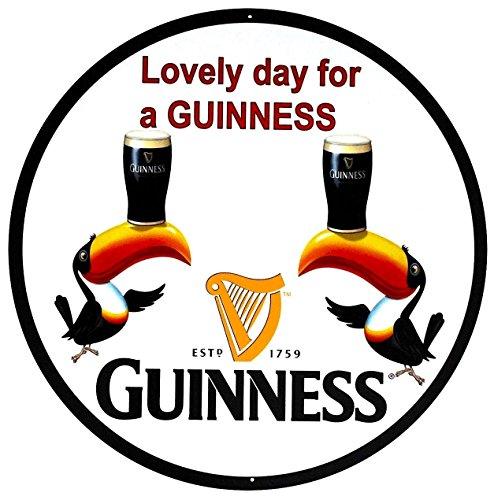 - Guinness Beer Sign - Lovely Day - Toucans - 14 inch Diameter
