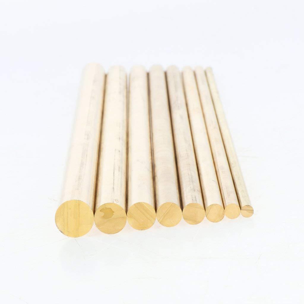 kesoto Laiton Barre de Tige Mat/ériel Tiges Ronde Solide Dia 4-12mm Laiton-4mm