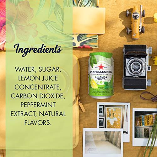 Sanpellegrino Italian Sparkling Drink, Lemon & Mint, 11.15 Fluid Ounce (24 Count)