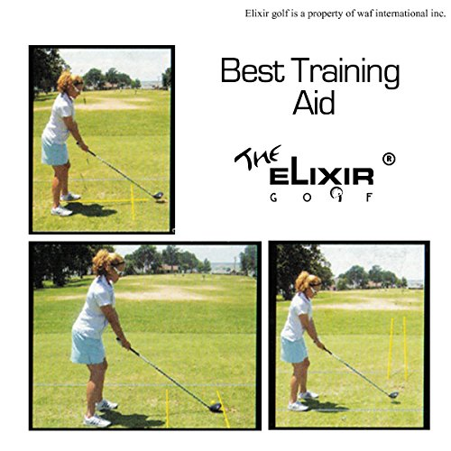 The Elixir Golf 4 Sticks Golf Practice Training Aids Trainer Golf