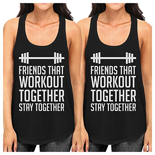365 Printing Friends Workout Together White Cute Best Friend Tank Tops For Women